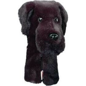 daphne's black lab hybrid golf headcover