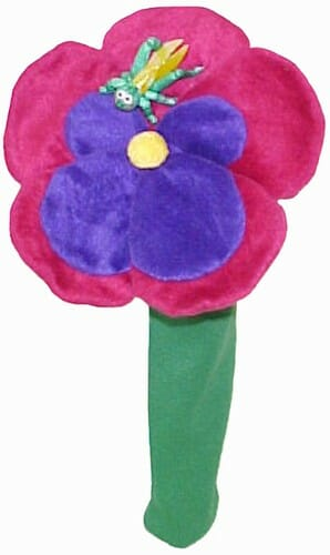 Pansy with Grasshopper Golf Headcover