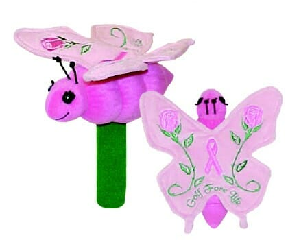 Pink Butterfly Hybrid Golf Headcover