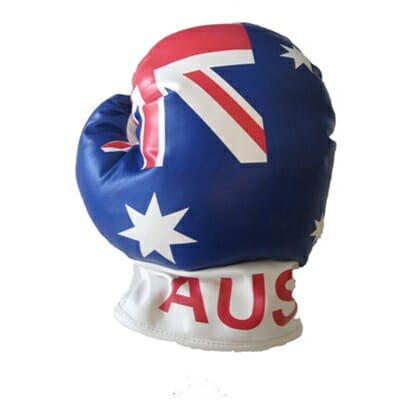 Australian Flag Boxing Glove Golf Headcover - Larry's Legend