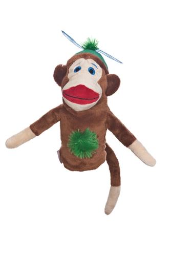 daphne's monkey made of sockies boy hybrid golf headcover
