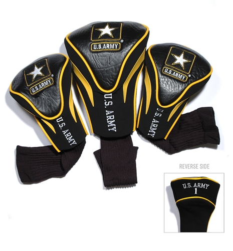 US Army  3 Pack Contour Headcovers