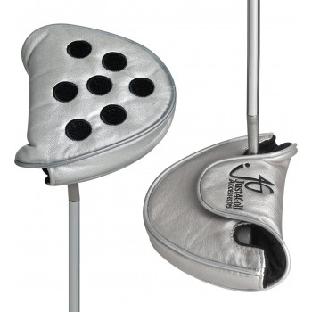 Dots Silver and Black Mallet Putter