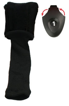 Form Fit  Driver Golf Headcover - Black