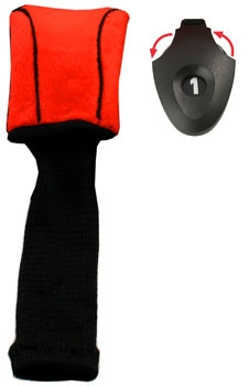 Form Fit  Driver Golf Headcover - Red