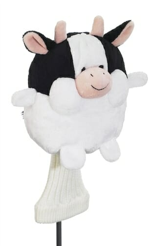 creative covers for golf chubby chipper cow golf headcover