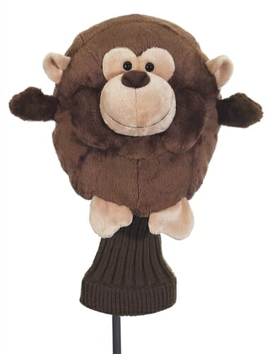 creative covers for golf chubby chipper monkey golf headcover