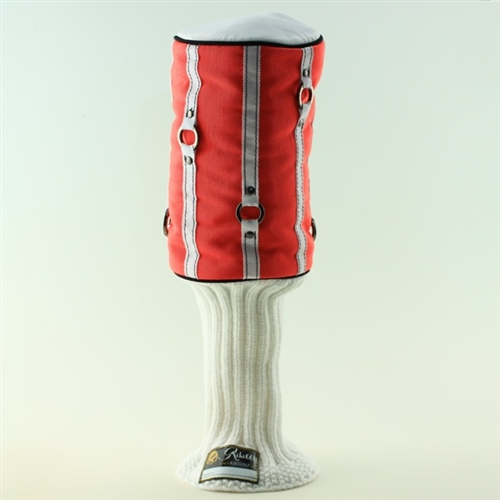 """""""Lipped Out"""" Coral/White Headcover"""