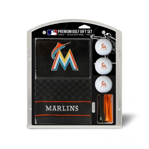 Miami Marlins Embroidered Towel Gift Set