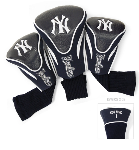 New York Yankees 3 Pk Contour Golf Headcover Set