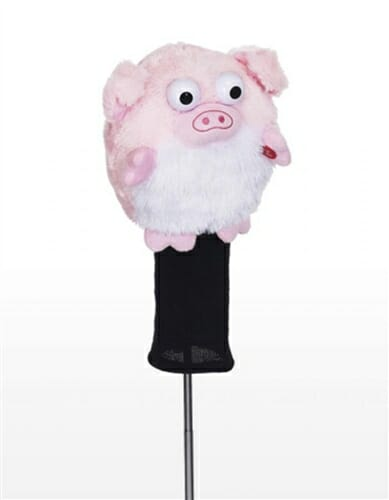 creative covers goofballs laughing pig golf headcover