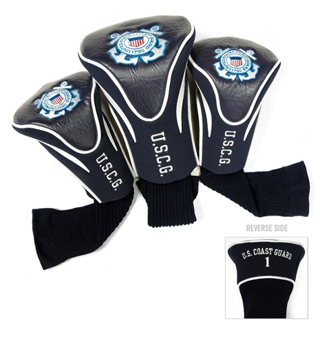 US Coast Guard 3 Pack Contour Headcovers