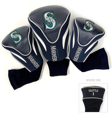 Seattle Mariners 3 Pk Contour Headcover Set