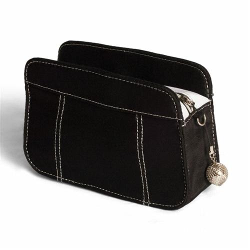 """For Serious Collectors"" Black Golf Ball -Tee Bag"