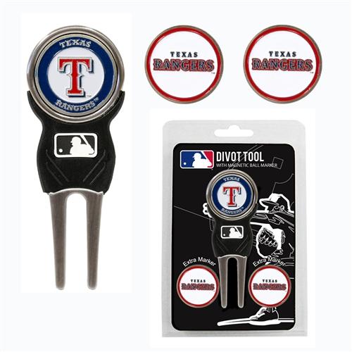 Texas Rangers Divot Tool Pack
