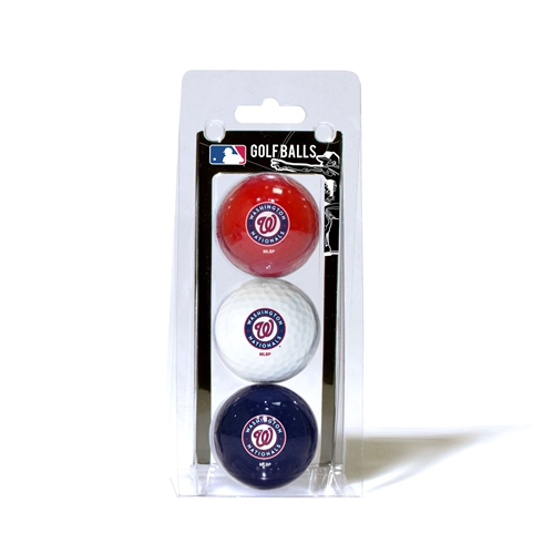 Washington Nationals 3 Ball Pack