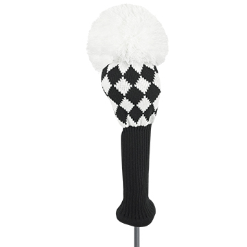 just4golf black white diamond driver golf headcover