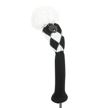 just4golf black white diamond hybrid golf headcover