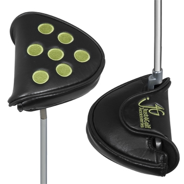 Dots Black and Lime Mallet Putter
