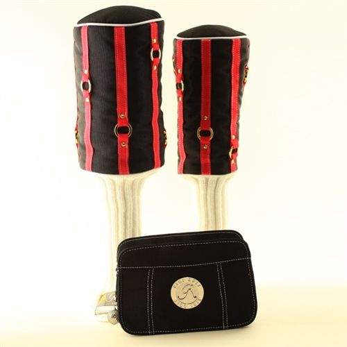 """""""Lipped Out"""" Black/Coral Headcover"""