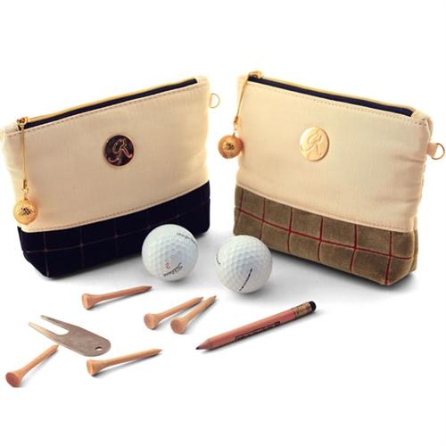 """Strategy"" Dirty Olive/Tan Golf Ball -Tee Bag"
