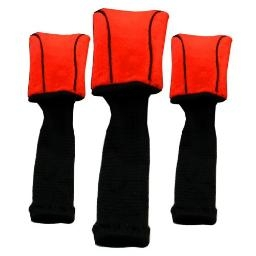 Form Fit Set of 3 Golf Headcover - Red