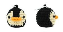 amimono penguin black beige golf ballholder