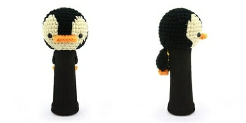 AmiFairway - Penguin Headcover - Black/Beige