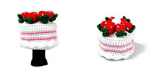 amimono cake strawberry driver golf headcover