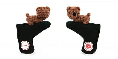 amimono bear brown black blade putter golf headcover