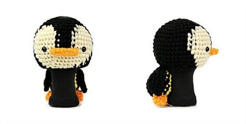 penguin black beige driver golf headcover