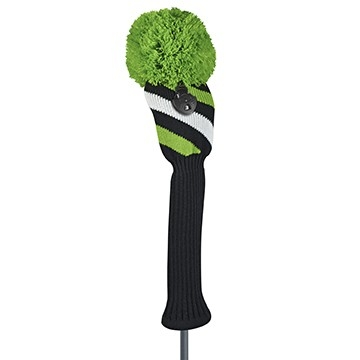 just4golf sparkle lime black white stripe fairway golf headcover