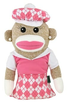 Sock Monkey Anna Banana Golf Headcover