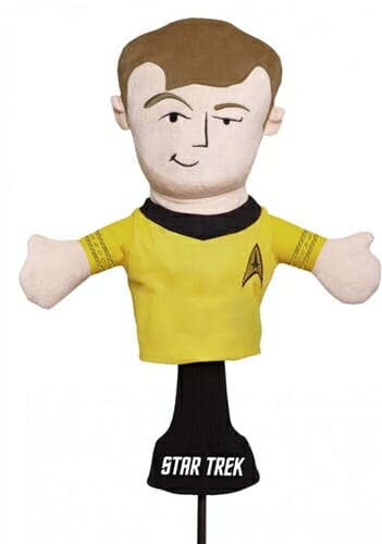 creative covers captain james t. kirk golf headcover
