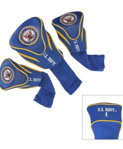 team golf us navy set of 3 golf headcovers