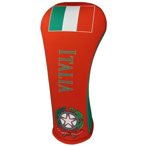 beejo's italian flag driver golf headcover