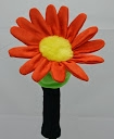 daphne's orange daisy golf headcover