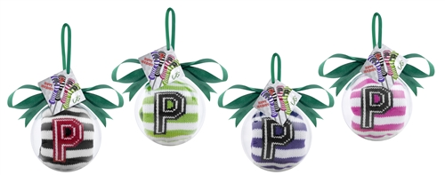 Purple and White Stripe Putter Ornament