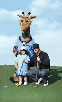 "Kevin Chappell's ""Champ"" Giraffe"