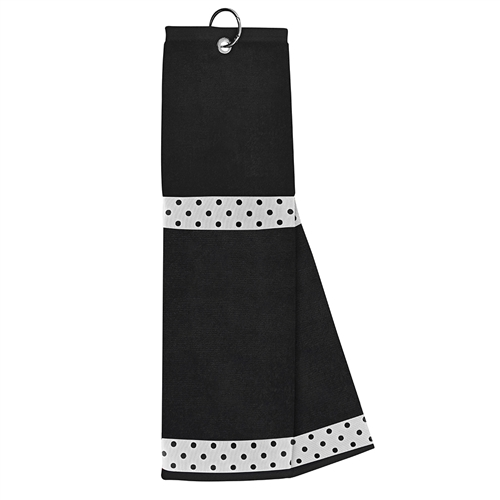 Black Towel with White / Black Dot