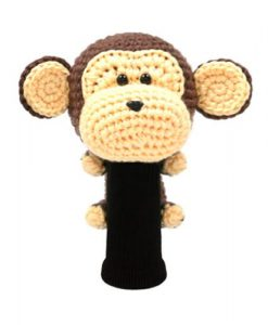 amimono monkey brown driver golf headcover
