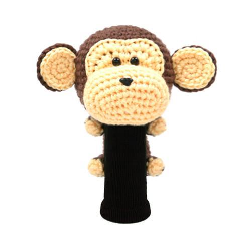 amimono monkey brown driver golf headcover