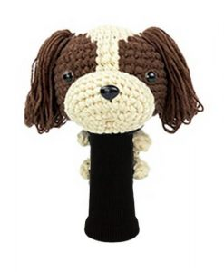 king charles spaniel brown driver golf headcover