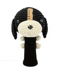 beagle black driver golf headcover
