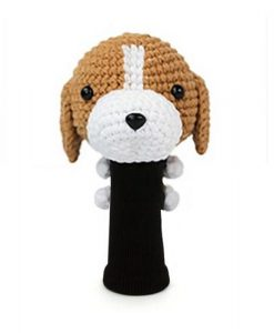 beagle brown driver golf headcover