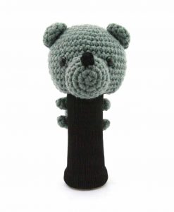 amimono bear gray driver golf headcover