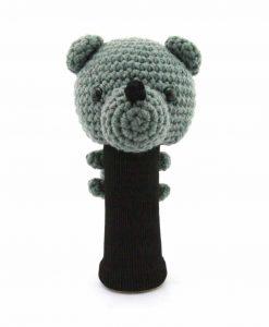 amimono bear gray driver golf headcover