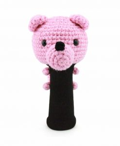 bear pink driver golf headcover