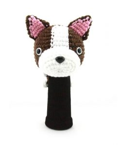 boston terrier d.brown driver golf headcover
