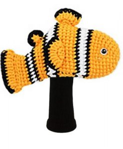 amimono clownfish orange driver golf headcover